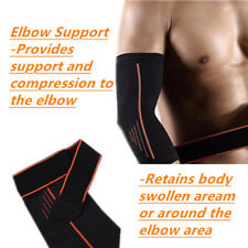 Tennis Elbow Brace Strength Sleeve+Wrap Compression Leg Protector Power Lifting