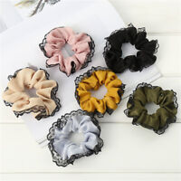 Fashion Lace Hair Rope Ring Women Ponytail Holder Scrunchie Hair Accessories Hot