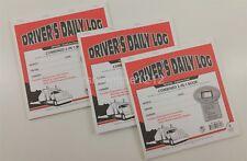 Lot of 3 JJ Keller 8541 (615L) 2-In-1 Driver's Daily Log Book w/Simplified DVIR