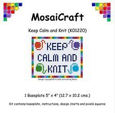 MosaiCraft Pixel Loisirs créatifs Mosaïque Art Kit 'Keep Calm  and Tricot'