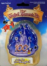 Disney's Magical Moments Cinderella's Castle LED Pin 100 Years Of Magic Sealed