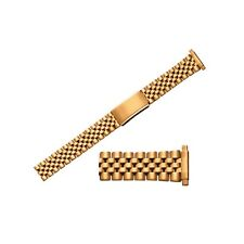 Gents 18+20mm Stretchable Ends Stainless Steel Pvd Gold Plating Watch Bracelet