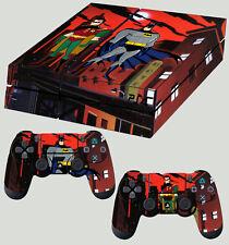 PS4 Piel Batman y Robin Animado Gotham Pegatina Nuevo + Almohadilla Calcomanía Vinilo relajado