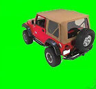 Soft Top Canvas 3 Tinted Windows Pair Of 769301 97-06 For Jeep Wrangler