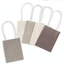 Darice Mini Paper Gift Bags, Neutral Pattern, 2 x 3.875 x 5.125,