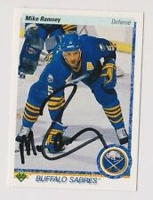 90/91 Upper Deck Mike Ramsey Buffalo Sabres Autographed Hockey Card