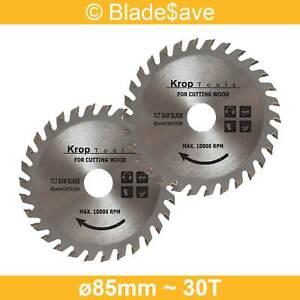 DeWalt Circular Saw Blade Fine Cut TCT 85mm x 15mm x 30T by KROP (2 Pack)