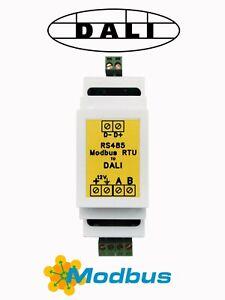 Modbus RS485 to DALI Gateway / Converter (DIN Rail, RTU to DALI)