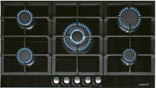 Autarkes Gaskochfeld LCI 941 Cata auf schwarzem Glas, 5 Brenner WOK, 87 cm