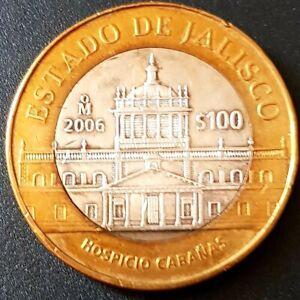 2006 MEXICO 100 PESOS SILVER BIMETALLIC Serie 2 ESTADO DE JALISCO Nice!!!