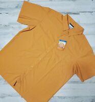 Men's Columbia Size L Omni-Shade UPF 50 Button Down Shirt Collar MSRP $50