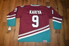 New Vintage Mens Medium Anaheim Mighty Ducks Paul Kariya #9 Hockey Jersey Purple