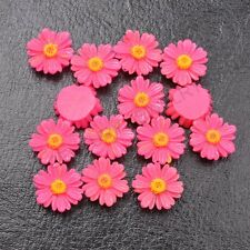 20Pcs  Plum Resin Sunflower flower flat back  DIY Charms Bead /have hole 12MM
