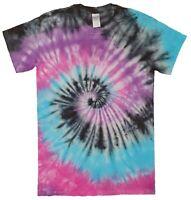 Purple Pink Blue Rainbow TIE DYE T SHIRT Fashion Tye Die Tshirt Festival Retro T