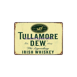 Metal Tin Sign irish whiskey Decor Bar Pub Home Vintage Retro Poster