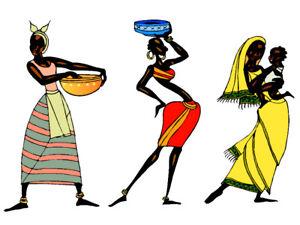 AFRICAN ART choose either print, t shirt transfer or sticker ETHNIC WOMEN