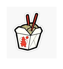 Chineese Take out noodles box Order food Sticker decal car laptop scrapbook