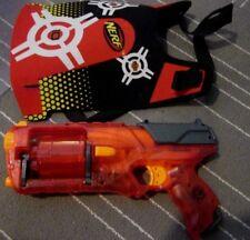 * NICE WORKING *Nerf N-Strike Elite Red Sonic Fire Strongarm Blaster w Vest