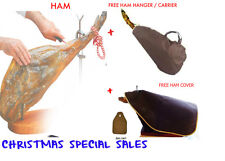 CURED SPANISH HAM JAMON SERRANO SHOULDER (PALETA) 4Kg +HAM BAG + FREE HAM COVER