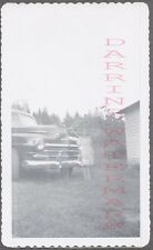Vintage Car Photo Unusual Ghost Girl w/ 1946 1947 1948 Plymouth 740874