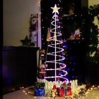 6' FT Color Changing Christmas LED Spiral Tree Light Xmas New Year Lamp Battery