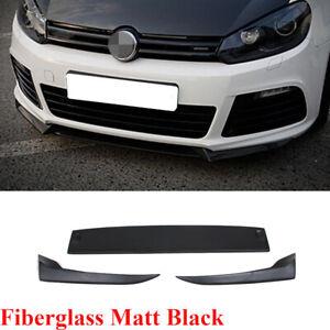 Front Bumper Lip Spoiler Splitter Fit for Golf 6 VI MK6 R20 10-13 Matt Black