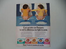 advertising Pubblicità 1982 PANNOLINI PAMPERS