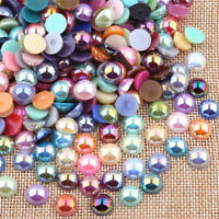Various Half Round Flat Back Pearls Gems Craft Embellishments Card Making Decor