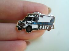 Vintage White Enamelled Old Ambulance Shape Tie Pin / Lapel Pin - Good Condition