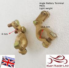 12V Auto morsetti della batteria morsetti connettori AUTO VEICOLO bulloni in ottone + / - (M601)