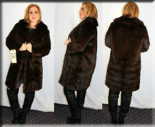 Mahogany Mink Fur Coat Size Medium 6 8 M Efurs4less