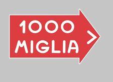 Mille Miglia 1000 Decal Sticker Insignia Tanque Carenado Coche Clásico Carrera De Rally