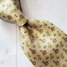 A1) Pineda Covalin NIERIKA HUICHOL Animal Print 100% Silk Necktie Made in Mexico