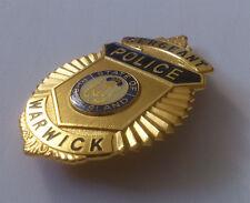 US polizia distintivo Police Badge-Rhode Island Warwick Police-REPLIK