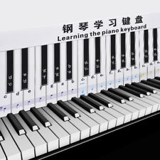 88 Keys Piano Practice Keyboard & Note Chart For Behind The Piano Keys T5H2
