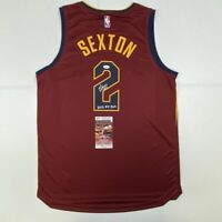 Autographed/Signed COLLIN SEXTON Cleveland Cavaliers Red Fanatics Jersey JSA COA