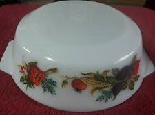 1960's JAJ PYREX Market Garden Casserole Dish 8 inches/22cm – VGC - NO LID