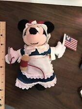 Disney Epcot U.S.A Betsy Ross Minnie Mouse Bean Bag Plush Beanie NWT