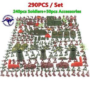 290PCS Soldier Model Army Men Grenade Tank Aircraft Rocket Sand Scene To