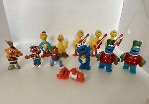 "Mixed Lot of 12 Sesame Street Figure 2-3"" PVC Big Bird Cookie Monster Elmo Ernie"