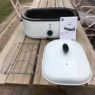GE Cooking Convenience 18 Quart Roaster Oven Model 169012 Manual Rack Insert Lid photo