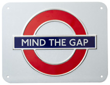London Underground Mind The Gap Roundel Small Metal Sign (gwc)