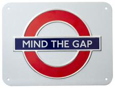 London Underground Mind die Lücke Rondell Kleines Metallschild ( GWC )