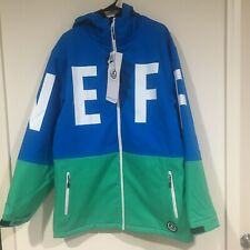 Men Neff Daily 10K Softshell Blue Snowboard Winter Jacket 16F62002 Size XL