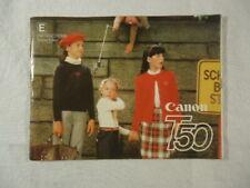 Canon T50 Camera Manual