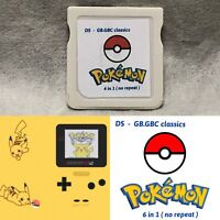 Nintendo DS -  GB.GBC  classics Pokemon 6 in 1  ( no repeat )