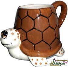 """Tasse in Schildkrötenform / Schildkrötentasse """"Turtle Mug"""" braun/beige"""