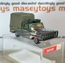 Majorette No.225 Dodge Safari Car Army Green MIB. Original Vintage Diecast