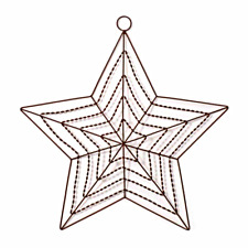 2 -TWO- 2 Wire Star with Hook - Darice - Brown - Metal - Wreath Frame Form - 20""
