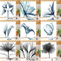 72x72'' X-ray Pattern Flowers Bathroom Fabric Shower Curtain Set Liner 12 Hooks